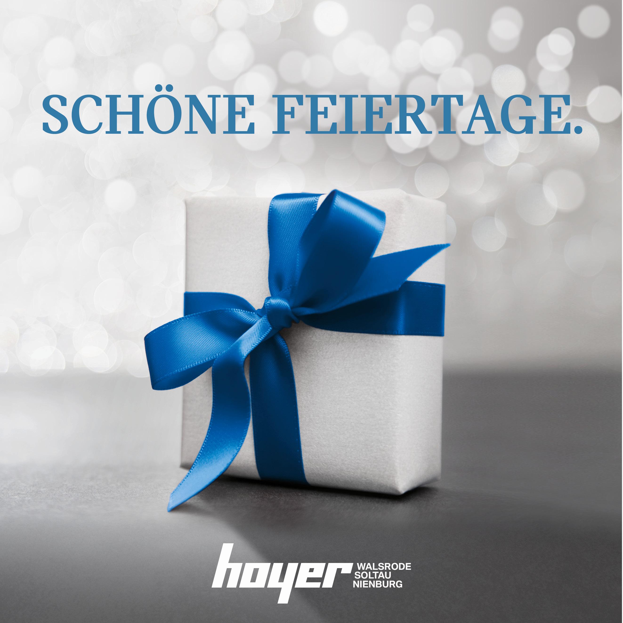 Die Hoyer Autohäuser wünschen schöne Feiertage