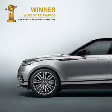 Range Rover Velar zum schönsten Auto der Welt gekührt.